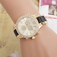 yoonheel Dámské Módní hodinky Maketa Diamant Hodiny Křemenný imitace Diamond Kov Kapela Černá Bílá Hnědá