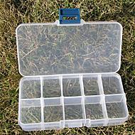 billige Lagring og oppbevaring-10 spor justerbar rektangulære beholder plast lagring smykker perler boks