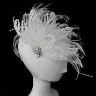 billiga Brudhuvudbonader-Kristall Fjäder Tyg Tiaras fascinators 1 Bröllop Speciellt Tillfälle Fest / afton Hårbonad