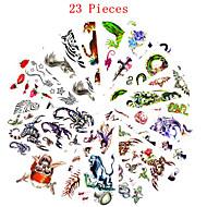 многоцветный - Тату с животными/Тату с цветами/Прочее - Временные тату - для Женский/Мужской/Взрослый/Подростки - 23 PCS - 25*11cn -Non