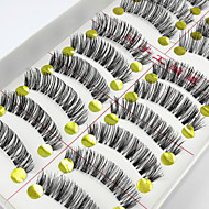 New 10 Pairs Natural Long Black False Eyelashes Handmade Soft Thick Fake EyeLashes Makeup Eyelashes Extensions
