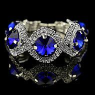 Dames Kristal Rond Bedelarmbanden Kralenarmband Kristal Dames Armbanden Sieraden Groen / Blauw Voor Bruiloft Feest Dagelijks Causaal Maskerade Verlovingsfeest