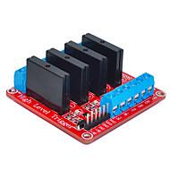 patru pentru Arduino releu în stare solidă (roșu)