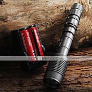 halpa -UltraFire LED taskulamput LED 2000 lm 5 Tila Cree XM-L T6 Akuilla ja laturilla Zoomable Säädettävä fokus Telttailu/Retkely/Luolailu