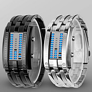 Herre Armbåndsur Digital Watch Digital LED Vannavvisende Legering Band Luxury Svart Sølv