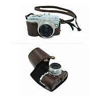 billige Etuier, vesker og stropper-dengpin® beskyttende avtakbar lær kameraveske bag cover med skulderstropp for olympus e-PL7 (assorterte farger)