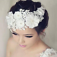 お買い得  ウェディング髪飾り-レース ラインストーン - フラワーズ 1 結婚式 パーティー かぶと