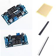 lm2596 dc-dc justerbar step-down-modul med en spenning meter skjerm og tilbehør