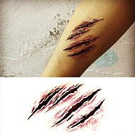 Halloween Terror Scary Wound Tattoo Stickers Temporary Tattoos(1 Pc)