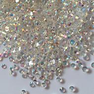300PCS 3D Glitter AB Rhinestones Nail Art Decorations