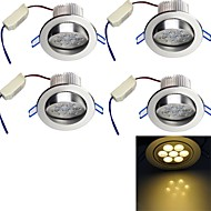 cheap LED Recessed Lights-YouOKLight 700 lm LED Recessed Lights 7 leds High Power LED Decorative Warm White AC 100-240V