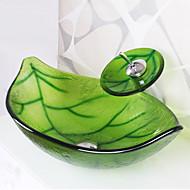 お買い得  洗面ボウル-コンテンポラリー 長方形 シンク材質 あります 強化ガラス 洗面ボウル 水栓 取付リング 排水ドレイン