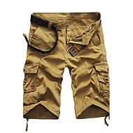 ราคาถูก -สำหรับผู้ชาย Military ขนาดพิเศษ ทุกวัน Sport ฮอลิเดย์ ตรง / กางเกงขาสั้น กางเกง - สีพื้น ฝ้าย สีเขียว สีดำ / สีขาว สีกากี 34 36 38 / ฤดูร้อน / ทำงาน / สุดสัปดาห์