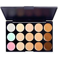 billiga Ögonskuggor-15 färger Ögonskuggor / Kaki Öga Concealer Naturlig Vardagsmakeup Smink Kosmetisk / Matt / Skimmrig