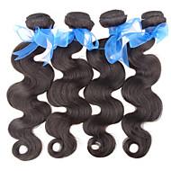 5a Peruaanse virgin human hair verlenging lichaam wave haar bundels 3pcs lot 8 \'\'-30\'\' onbewerkt haar weave natuurlijke zwart