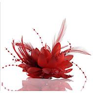 Χαμηλού Κόστους -Σιφόν Απομίμηση Μαργαριταριού Δαντέλα Γοητευτικά Λουλούδια Καλύμματα Κεφαλής Στεφάνια with Φλοράλ 1pc Γάμου Ειδική Περίσταση Causal