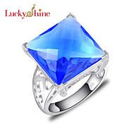 Anéis Mulheres / Homens / Unisexo Cristal Prata Prata 7 / 8 / 9 Prata As cores de embelezamento estão disponiveis na imagem.