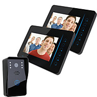 "cheap -ENNIO  7"" TFT 2.4G Wireless Video Door Phone Intercom Doorbell Home Security 1 Camera 2 Monitor"