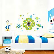 コンテンポラリー キャラクター 抽象風 結婚式 家族 友達 漫画 壁時計,円形 ノベルティ柄 プラスチック その他 屋内/屋外 クロック