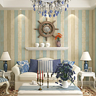 Contemporary Wallpaper Stripe 0.53m*10m Wall Covering Non-woven Paper Wall Art