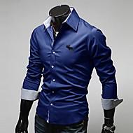 MEN カジュアルシャツ ( コットンブレンド ) カジュアル ワイシャツカラー - 長袖