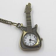 창조적 인 기타 모양의 회중 시계 목걸이 스웨터