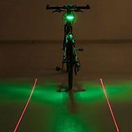 Sykkellykter LED Lyspærer Baklys til sykkel Laser LED - Sykling Fargeskiftende Advarsel Laser LED Lys AAA 400 Lumens Batteri Sykling