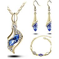 Bonito moda ternos jóias bonito da menina moderna mulheres (colar e brinco e pulseira)