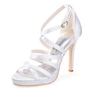 ieftine Pantofi Nuntă Înalți-Pentru femei Pantofi Imitație Piele Primăvară / Vară Toc Stilat Roz / Maro deschis / Cristal / Nuntă / Party & Seară