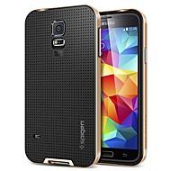 halpa -Varten Samsung Galaxy kotelo Iskunkestävä Etui Takakuori Etui Yksivärinen Silikoni Samsung S5