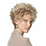 Synthetische Perücken Locken Stil Asymmetrischer Haarschnitt Kappenlos Perücke Blond Blondine Synthetische Haare Damen Gefärbte Haarspitzen (Ombré Hair) Blond Perücke Kurz Natürliche Perücke