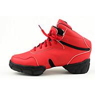 baratos Sapatilhas de Dança-Homens / Mulheres Tênis de Dança / Sapatos de Dança Moderna Sintético Têni Cadarço Sem Salto Personalizável Sapatos de Dança Vermelho /