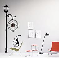 コンテンポラリー レトロ風 動物 キャラクター 抽象風 結婚式 家族 友達 壁時計,ノベルティ柄 プラスチック その他 屋内/屋外 クロック
