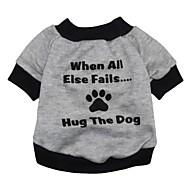 Kat Hond Sweatshirt Hondenkleding Letter & Nummer Grijs Textiel Binnenwerk Kostuum Voor Lente & Herfst Winter Heren Dames Modieus