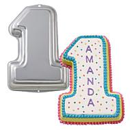 tanie Formy do ciast-cztery c dziecko brithday na 1 rok patelni stare ciasto do pieczenia, aluminium ciasta dekorowanie, narzędzi metalowych pieczenia formy do