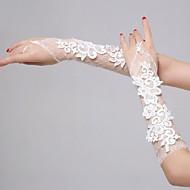 מרפק כפפות לאורך כלה כפפות צד / ערב כפפות בסגנון אלגנטי