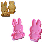 2PCS Miffy Pattern Cake and Cookie Cutter Mold