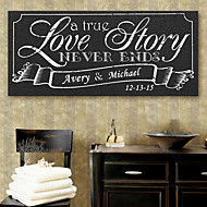 E-HOME® Personalized Signature Canvas Frame-Love Story Wedding Ceremony