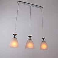 60 W moderne lysekrone med 3 lamper