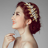 נשים סגסוגת דמוי פנינה כיסוי ראש-חתונה אירוע מיוחד חוץ פרחים חלק 1
