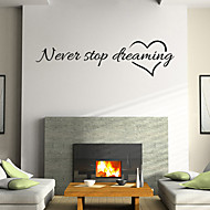 wall stickers wall decals stil nerer op med at drømme engelske ord& citerer pvc wall stickers