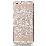 케이스 제품 Apple iPhone 6 Plus / iPhone 6 투명 / 패턴 뒷면 커버 꽃장식 하드 PC 용 iPhone 6s Plus / iPhone 6s / iPhone 6 Plus