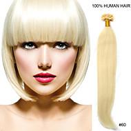 24inch remy nagel tip haar 0,7 g / s human hair extensions 8 kleuren voor vrouwen schoonheid