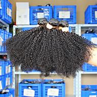 3 kpl / lot 10-26 eurasian neitsyt hiukset afro kinky kihara ihmisen hiukset kutoa niput sekava vapaata