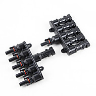 Y-SOLAR 1 Pair M/FM Solar Panel MC4 5 To 1 T Branch 30A Solar Panel Connector Cable Coupler Combiner