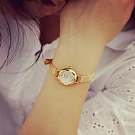 billige Quartz-Dame Armbåndsur Quartz 30 m Afslappet Ur PU Bånd Analog Vintage Mode Guld - Gylden