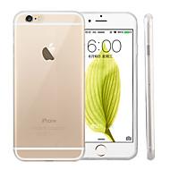 billiga Mobil cases & Skärmskydd-fodral Till Apple iPhone 6 iPhone 6 Plus Ultratunt Genomskinlig Skal Ensfärgat Mjukt Silikon för iPhone 6s Plus iPhone 6s iPhone 6 Plus