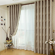 To paneler Window Treatment Land , Stribe Stue Polyester Materiale Blackout Gardiner Hjem Dekor For Vindu