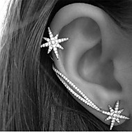 Rhinsten minimalistisk stil Stjerneformet Skærmfarve Smykker