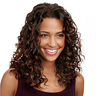 Human Hair Full Lace Wig Curly 120% Density With Baby Hair 100% Hand Tied African American Wig Natural Hairline Ombre Hair Medium Women's